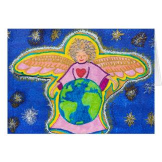 Cartes La terre affectueuse d'ange