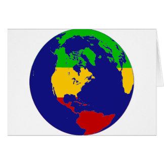 Cartes La terre de planète de Rasta
