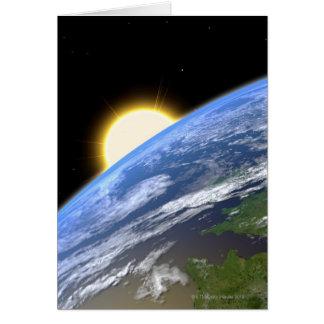 Cartes La terre et une étoile lumineuse