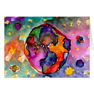Cartes La terre par Alicia Hanson, âge 10