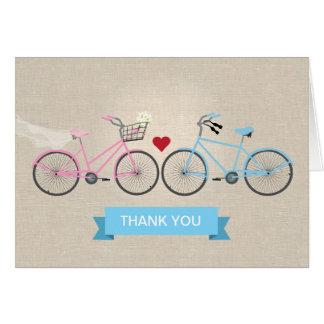 Cartes La toile de Faux va à vélo le Merci de mariage