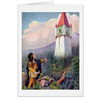 Cartes La tour de Rapunzel (blanc à l'intérieur)
