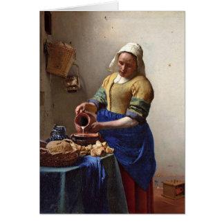 Cartes La trayeuse. Par Johannes Vermeer
