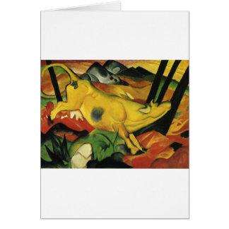 Cartes La vache jaune par Franz Marc
