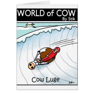 Cartes La vache Luge