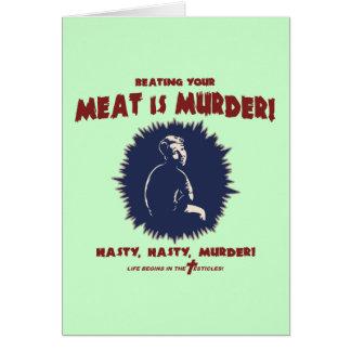 Cartes … la viande est meurtre
