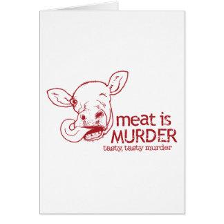 Cartes La viande est meurtre