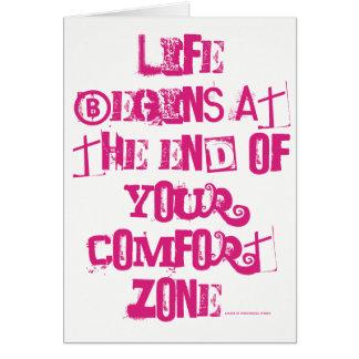 Cartes La vie commence à la fin de votre zone de confort