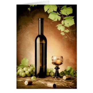 Cartes La vie de vin toujours blanc