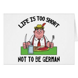 Cartes La vie est trop courte pour ne pas être allemande