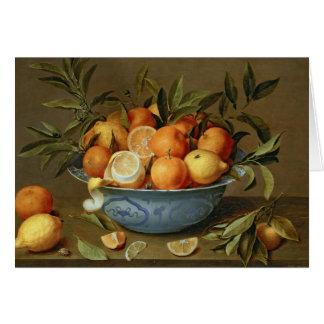 Cartes La vie toujours avec des oranges et des citrons