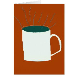 Cartes la vie toujours avec du café