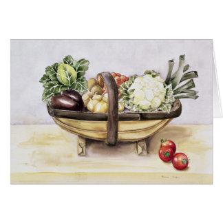 Cartes La vie toujours avec un trug des légumes 1996
