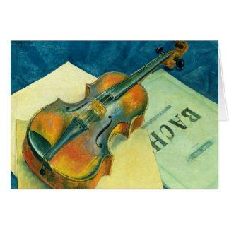 Cartes La vie toujours avec un violon, 1921