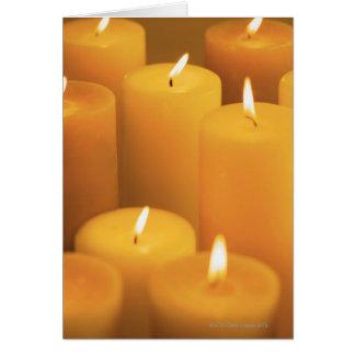 Cartes La vie toujours des bougies allumées