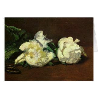 Cartes La vie toujours, pivoines blanches - Edouard Manet