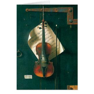 Cartes La vieille de violon toujours vie par Harnett,