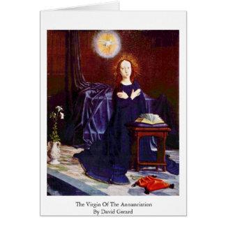 Cartes La Vierge de l'annonce par David Gerard