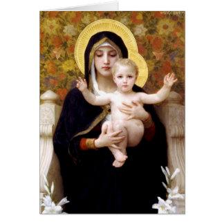 Cartes La Vierge du Lillies