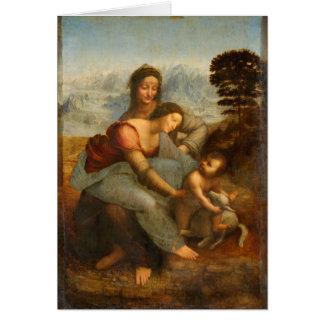 Cartes La Vierge et l'enfant avec St Anne par da Vinci