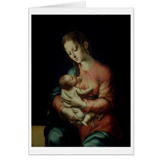 Cartes La Vierge et l'enfant (huile sur le panneau)