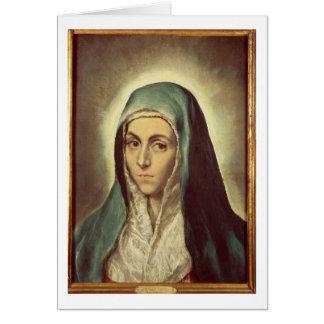 Cartes La Vierge pleurant (huile sur la toile)