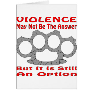 Cartes La violence ne peut pas être la réponse mais elle