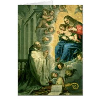 Cartes La vision de St Bernard, 1634