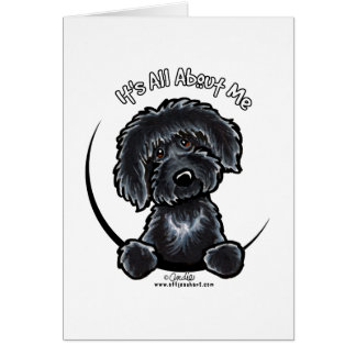 Cartes Labradoodle noir IAAM simple
