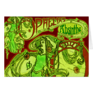 Cartes L'absinthe d'Ophélie