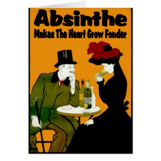 Cartes L'absinthe fait le coeur se développent plus