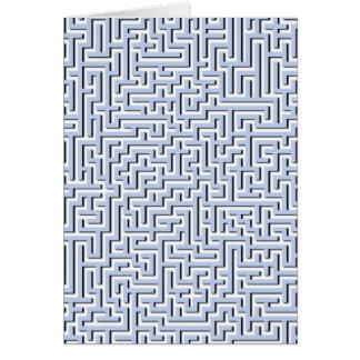 Cartes Labyrinthe bleu d'Alice dans un jardin anglais de