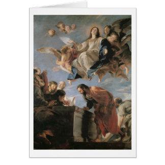 Cartes L'acceptation de la Vierge, 1673 (huile sur la