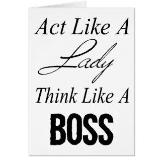 Cartes L'acte comme Madame, pensent comme un patron
