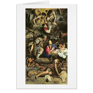 Cartes L'adoration des bergers, 1612 (huile sur le canva