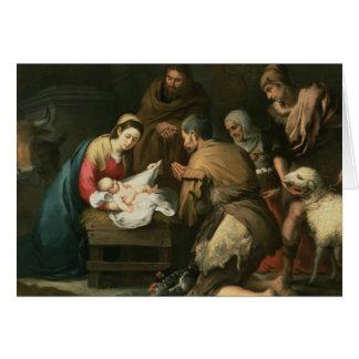 Cartes L'adoration des bergers, c.1650