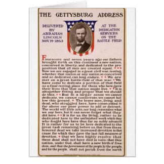 Cartes L'adresse de Gettysburg par Abraham Lincoln 1863