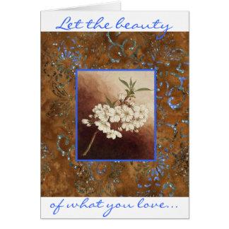 Cartes Laissez la beauté de ce que soyez vous aimez ce