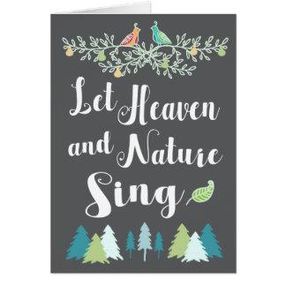 Cartes Laissez le ciel et la nature chanter Noël chrétien
