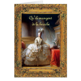 Cartes Laissez-les manger le gâteau Marie (français)