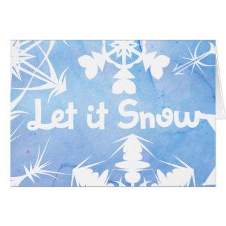 Cartes Laissez lui neiger