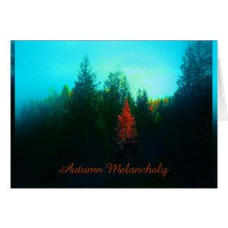 Cartes L'ambiance d'automne travaille numériquement