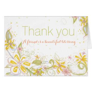 Cartes L'ami est beau Merci de blanc de bénédiction