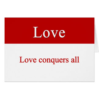 Cartes L'amour conquiert tous