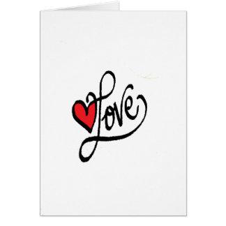 Cartes L'amour d'Arnaba avec le coeur