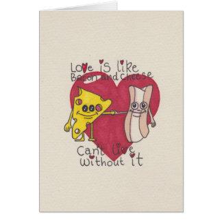 Cartes L'amour est comme le lard et le fromage