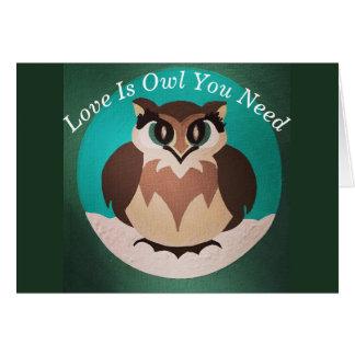 Cartes L'amour est hibou que vous avez besoin