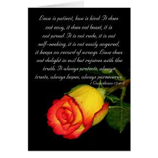 Cartes L'amour est patient…