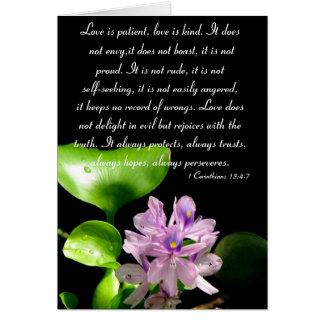Cartes L'amour est patient….