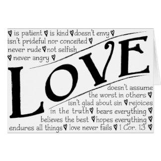 Cartes L'amour est patient, amour est aimable